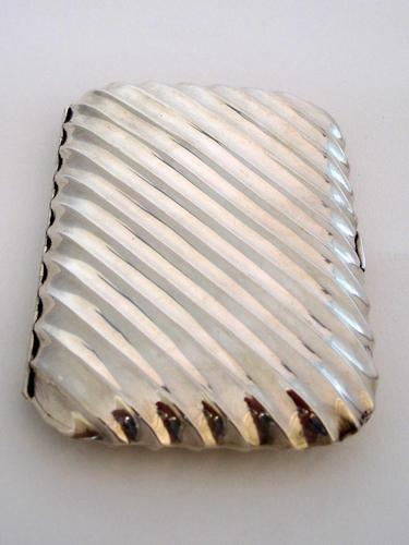 Victorian Silver Cigar Case with Spiral Form Body (1 of 7)