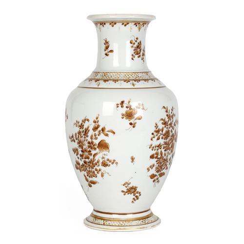 Paris Porcelain En Grisaille Floral Painted Vase c.1830 (1 of 18)
