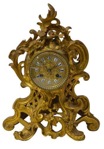 Fine Quality Rococo French Mantel Clock (1 of 8)