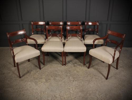 Set of 8 Regency Mahogany Dining Chairs (1 of 20)