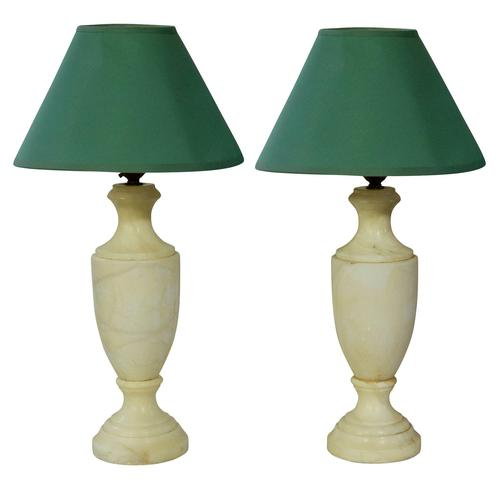 A Pair of Alabaster Lamps (1 of 3)
