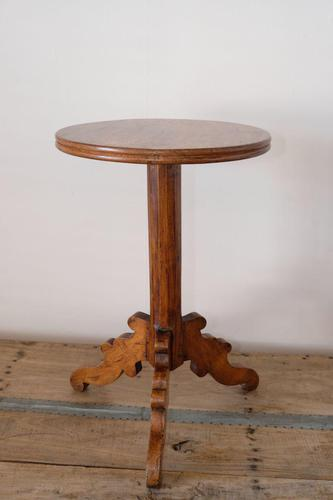 19th Century Stained Pine Pedestal Table with circular top (1 of 16)
