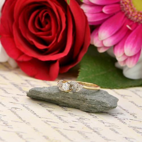 The Vintage Brilliant Cut Foliate Diamond Ring (1 of 5)