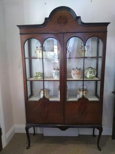 Double Fronted Edwardian Glazed Display Cabinet (1 of 6)