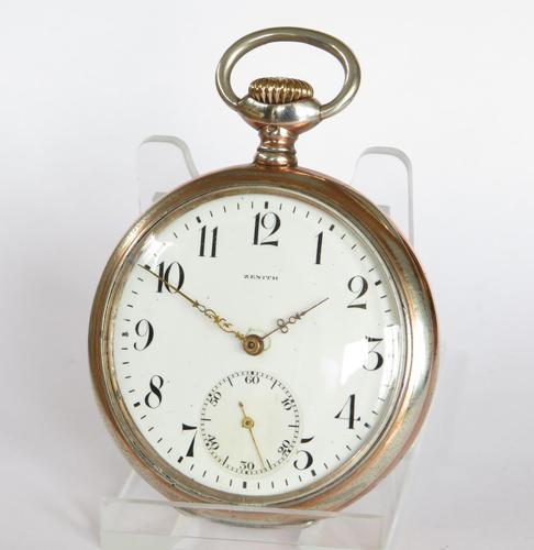 Antique Silver Zenith Pocket Watch - 1919 (1 of 5)