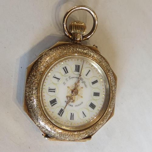 Antique 14ct Gold Cased, Enamel-decorated, Ladies Watch (1 of 12)