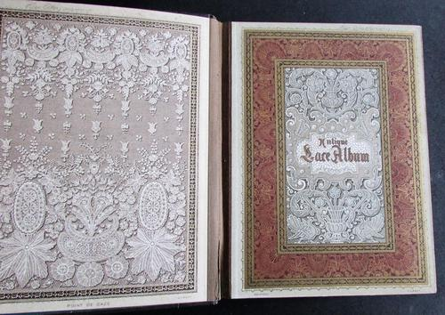 Rare 1900's Antique Lace Photograph Album, Numerous Lace Designs, Bound in Leather Binding (1 of 5)