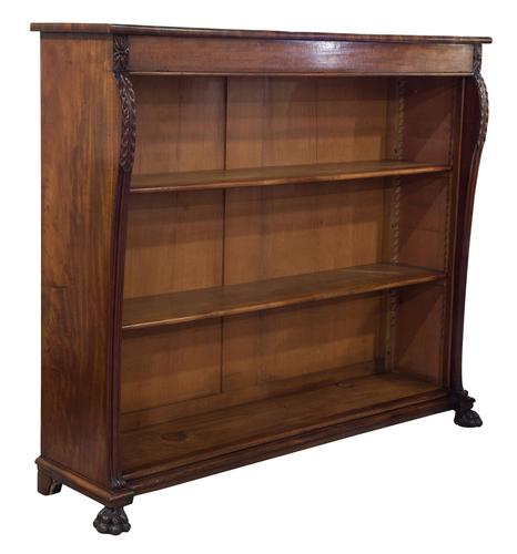 William IV Mahogany Open Bookcase (1 of 6)