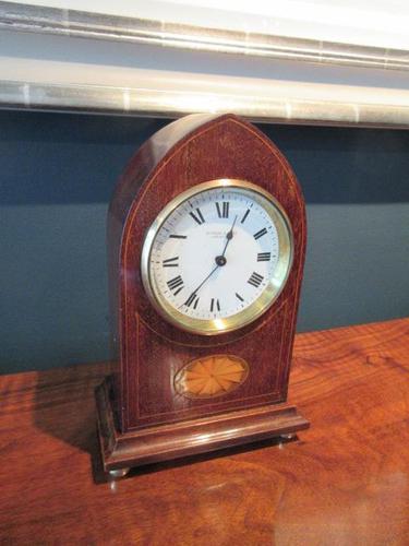Antique Sheraton Inlaid Dent of London Mantel Clock (1 of 7)