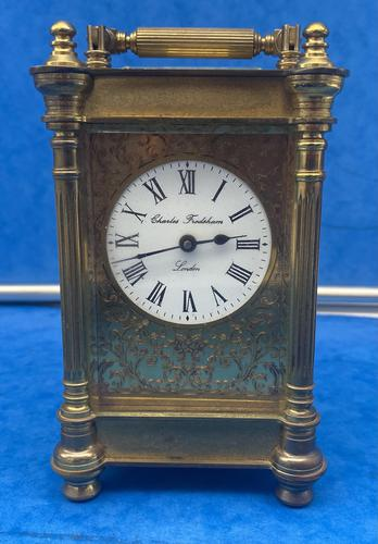 Victorian Gilt Brass  Charles Frodsham Carriage Clock (1 of 11)