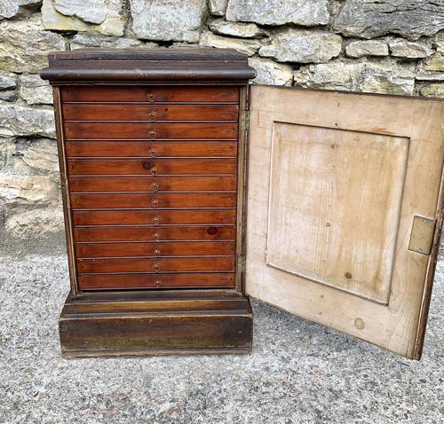 Georgian Collectors Tabletop Specimen Cabinet (1 of 26)