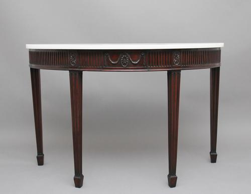 18th Century Mahogany & Marble Top Console Table (1 of 9)