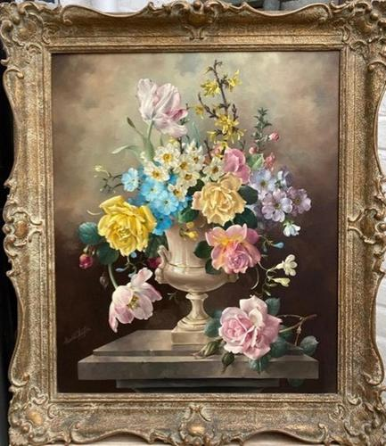 Floral Oil Painting by Harold Clayton 1896 - 1979 (1 of 1)
