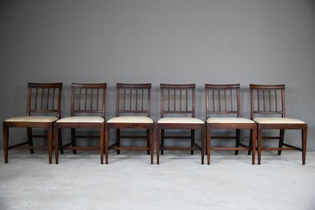 6 Georgian Mahogany Dining Chairs (1 of 12)