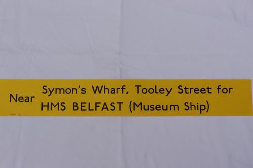 London Transport Slipboard Poster for HMS Belfast (1 of 1)