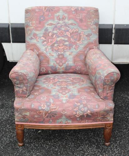 1940s Armchair Upholstered in Pretty Floral Material (1 of 3)