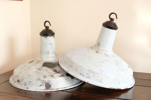 Vintage Simplex industrial circular pendant lights (1 of 11)