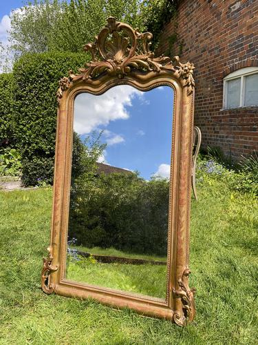 French Shaped Gilt Mirror (1 of 5)