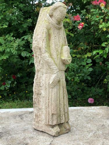 Rare Medieval 16th Century Antique Carved Stone Sculpture Religious Monk Bible (1 of 12)