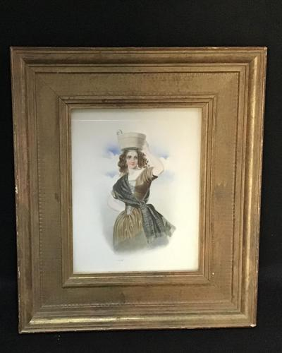 Victorian Watercolour of a Young Lady. (1 of 9)