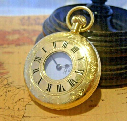 Vintage Swiss Limit Pocket Watch 1970s 17 Jewel 12ct Gold Plated FWO (1 of 11)
