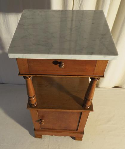 French Marble Toped Pot Cupboard Early 20th Century (1 of 14)