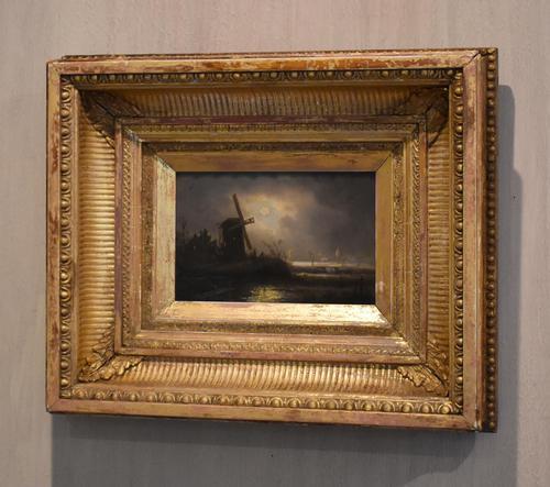 Victorian Night Scene Oil Painting (1 of 6)
