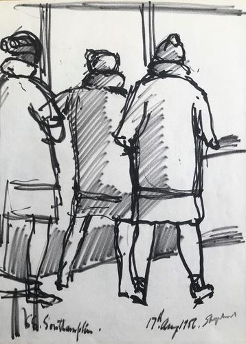 Original Marker Pen Drawing 'Leaving Southampton for Perugia' (1 of 1)