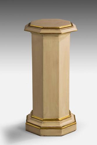 Parcel Gilt Hexagonal Ivory Coloured Column (1 of 2)