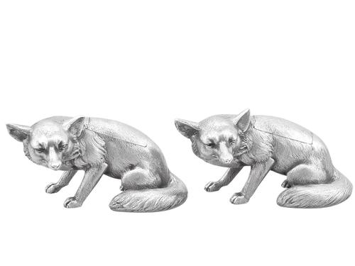Sterling Silver Fox Boxes - George V 1926 (1 of 12)