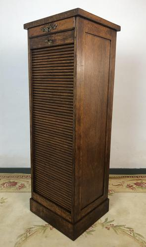 Antique French Filing Cabinet Tambour Roller Shutter (1 of 12)