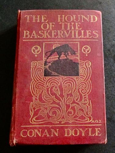 1902 1st Edition The Hound of the Baskervilles by Arthur Conan Doyle (1 of 4)