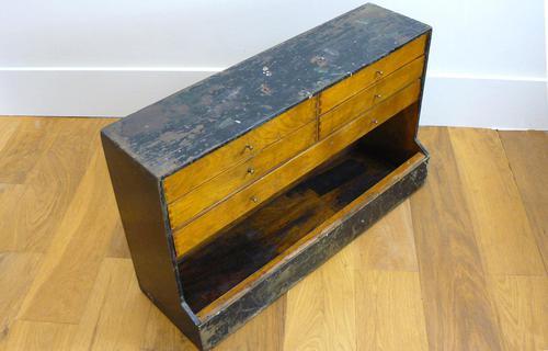 Vintage Black Painted Carpenters Tool Drawers (1 of 8)