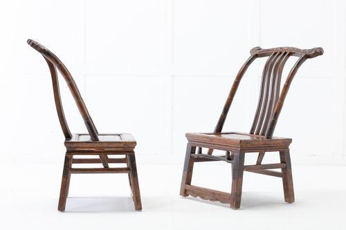 Pair of 19th Century Chinese Stargazing Chairs (1 of 7)
