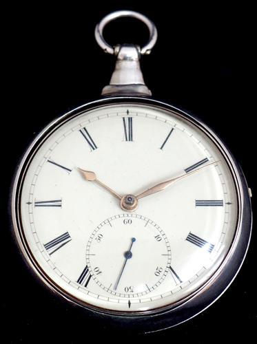 Antique Silver Pair Case Pocket Watch Fusee Escapement Key Wind Enamel Dial John Bernard London Liverpool (1 of 12)