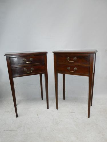 Neat Pair of 1920s Bedside or Side Cabinets (1 of 7)