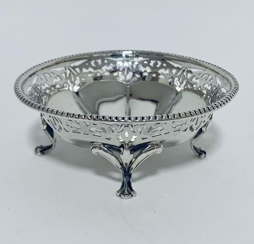 Antique Solid Sterling Silver Pierced Bonbon Dish (1 of 9)