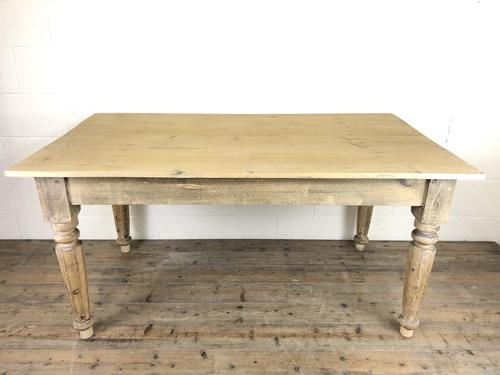 Antique Pine Farmhouse Style Kitchen Table (1 of 13)