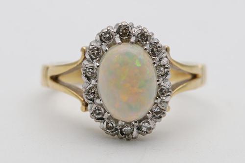 18ct Gold Opal & Diamond Ring (1 of 3)