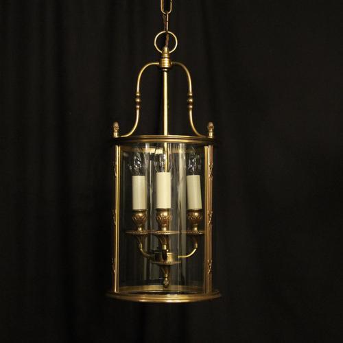 French Gilded Bronze Triple Light Convex Lantern (1 of 10)