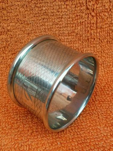Vintage Sterling Silver Hallmarked 1960 Napkin Ring, Preece & Williscombe, London (1 of 6)