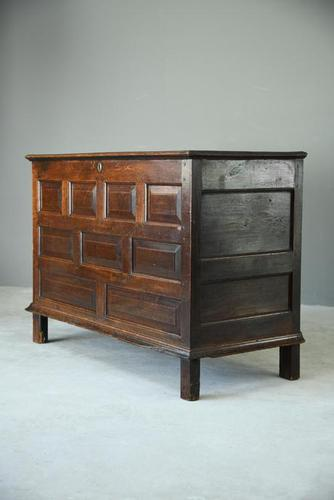 Antique Large Georgian Oak Chest (1 of 7)