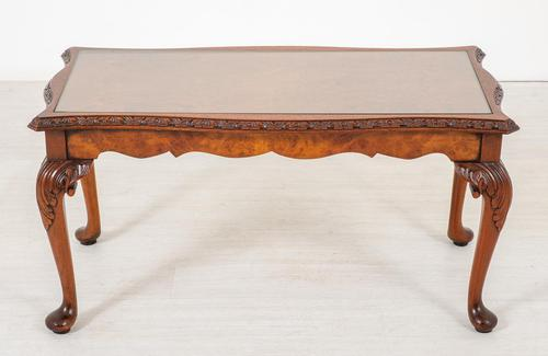 Burr Walnut Queen Anne Style Coffee Table c.1930 (1 of 6)