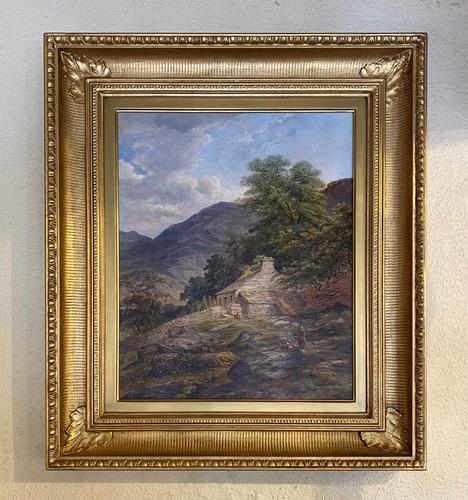 Attributed to George William Pettitt - Gilt Framed Oil Painting on Canvas (1 of 5)