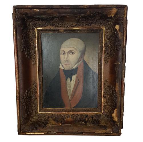 Oil on Board of Man in Skull Cap in Original Frame (1 of 1)
