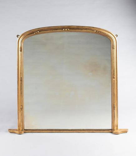 Victorian Git Overmantle Mirror (1 of 6)
