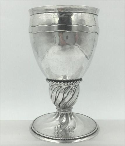 Omar Ramsden silver goblet London 1923 Arts and Crafts Silver (1 of 6)
