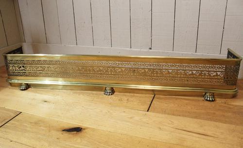 19th Century Fretwork Brass Fire Fender (1 of 9)