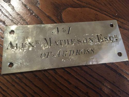 Brass Name Plate - Ardross Interest (1 of 2)