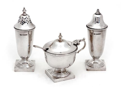 Boxed Four Piece Silver Condiment Set (1 of 7)
